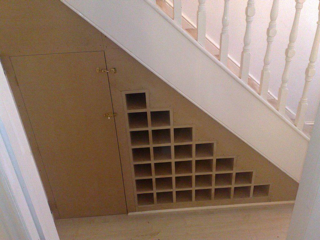 built-in wine storage
