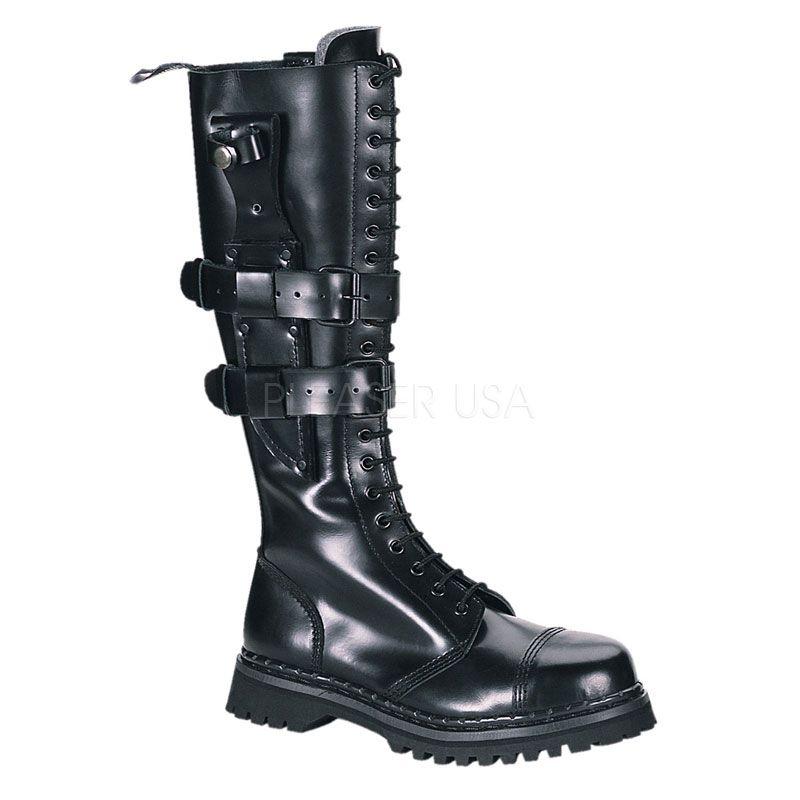 a7b1f668d81 Heavy Metal Knee Boots - Demonia Predator - I by Pleaser - Nychta ...