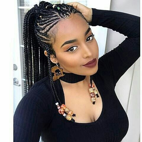 African Hairstyles Are Just Too Beautiful Especially The Braids Thus Here Are The Awesome African Hair Hair Styles Natural Hair Styles Cool Braid Hairstyles