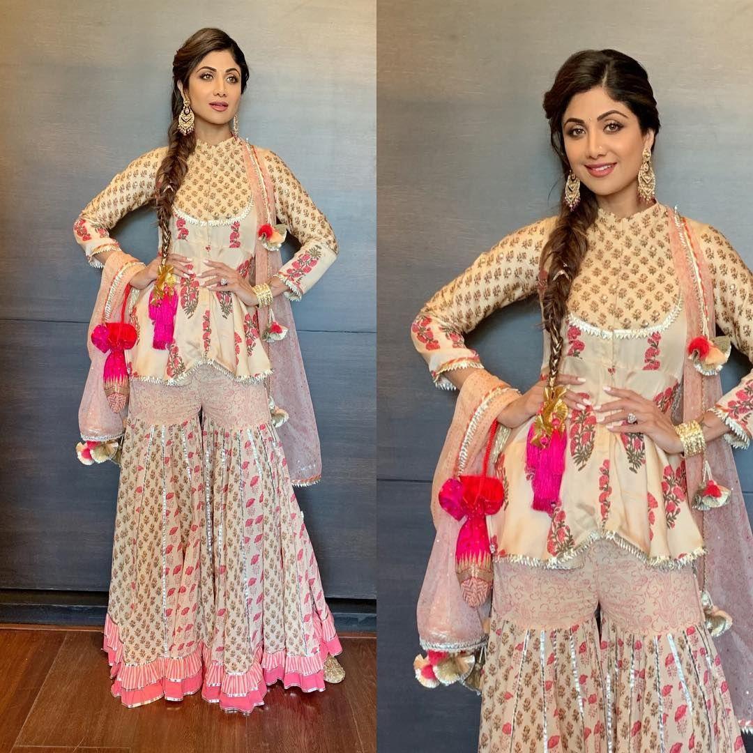 Shilpa Shetty And Husband Raj Kundra Shake A Leg At The Family Wedding Hungryboo Fashion Indian Designer Outfits Designer Dresses Indian