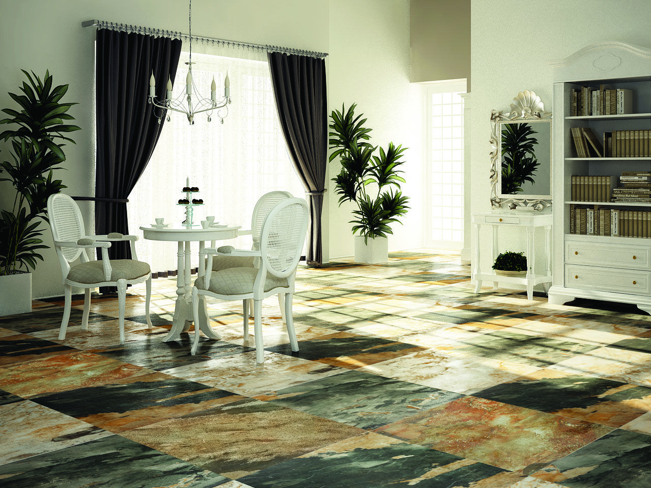 Mayan Moss (Floor Tile), Size 600x600 mm, For more