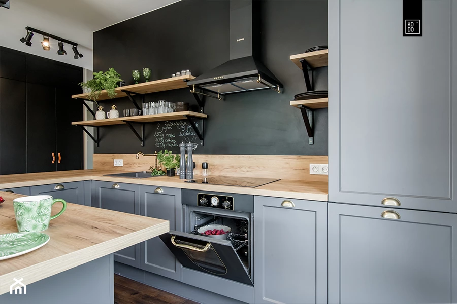 Pin By Kasia Konopka On Projekty Kuchni Kitchen Design Small Grey Kitchen Cabinets Kitchen Design