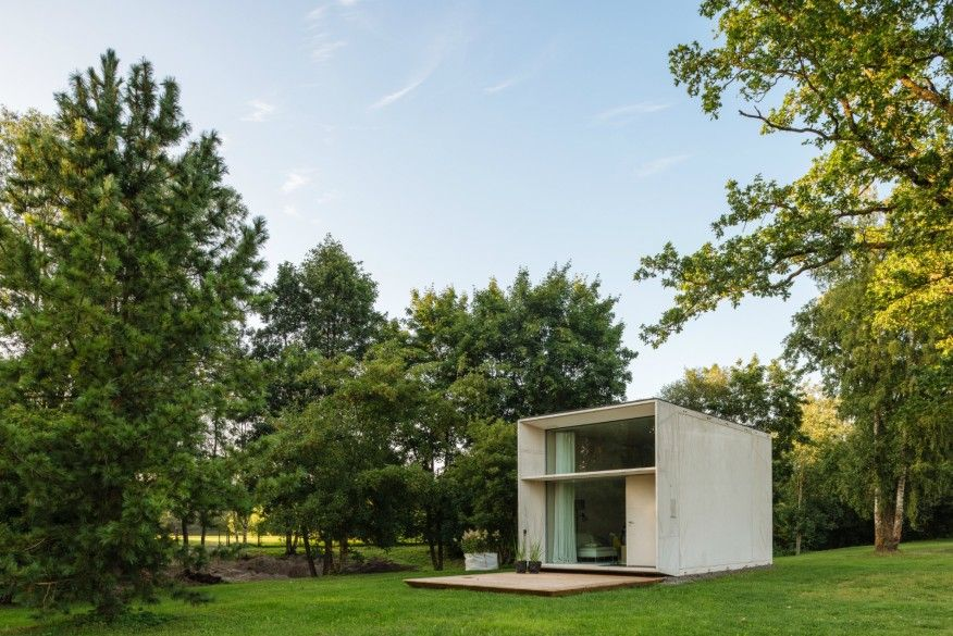 A Prefab, Concrete Tiny Home That Easily Moves With Owners | Builder  Magazine | Prefab Design, Design, Modular Building, Green Building, Green  Materials, ...