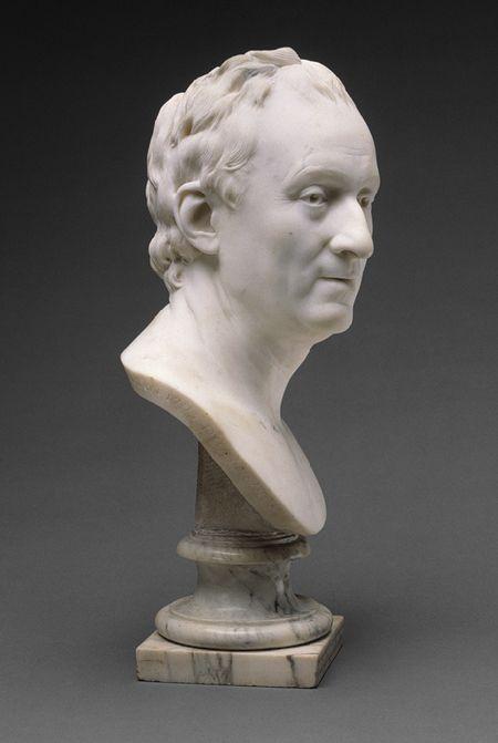 HOUDON Jean-Antoine - French (1741 – 1828) ~ Portrait bust of Denis DIDEROT c. 1773