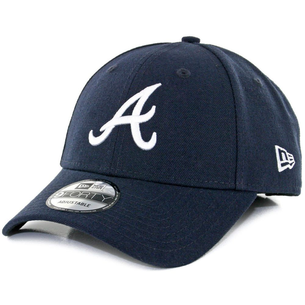 New Era 9forty The League Atlanta Braves Road Hat Dark Navy Mlb Adj Cap Atlanta Braves Braves Atlanta