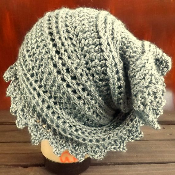 Crochet Head Scarf Wrap Heather Gray Crochet Scarf Head Wrap