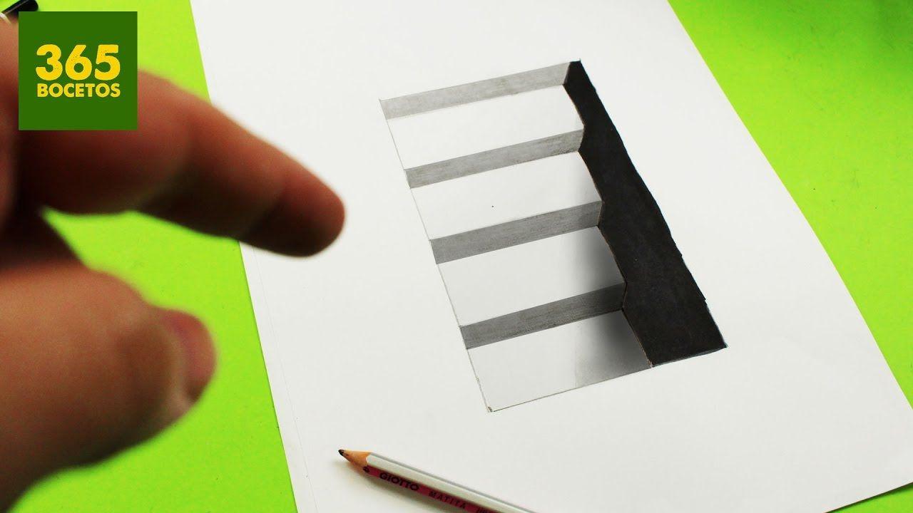 Ilusiones Opticas Escalera Imposible En 3d Dibujos Sorprendentes Ilusiones Opticas Dibujos 3d A Lapiz Ilusion Optica Dibujo