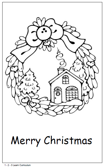 Wreath Christmas Card Free download 1 - 2 - 3 Learn Curriculum ...