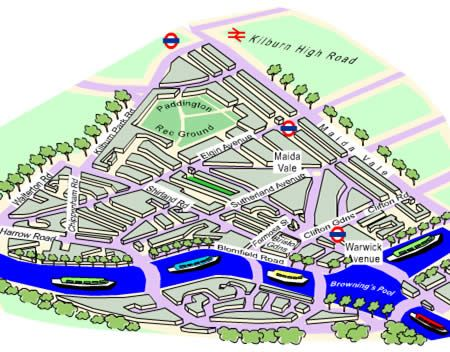Maida Vale And Little Venice London Shops Maida Vale Map Little - Little venice map