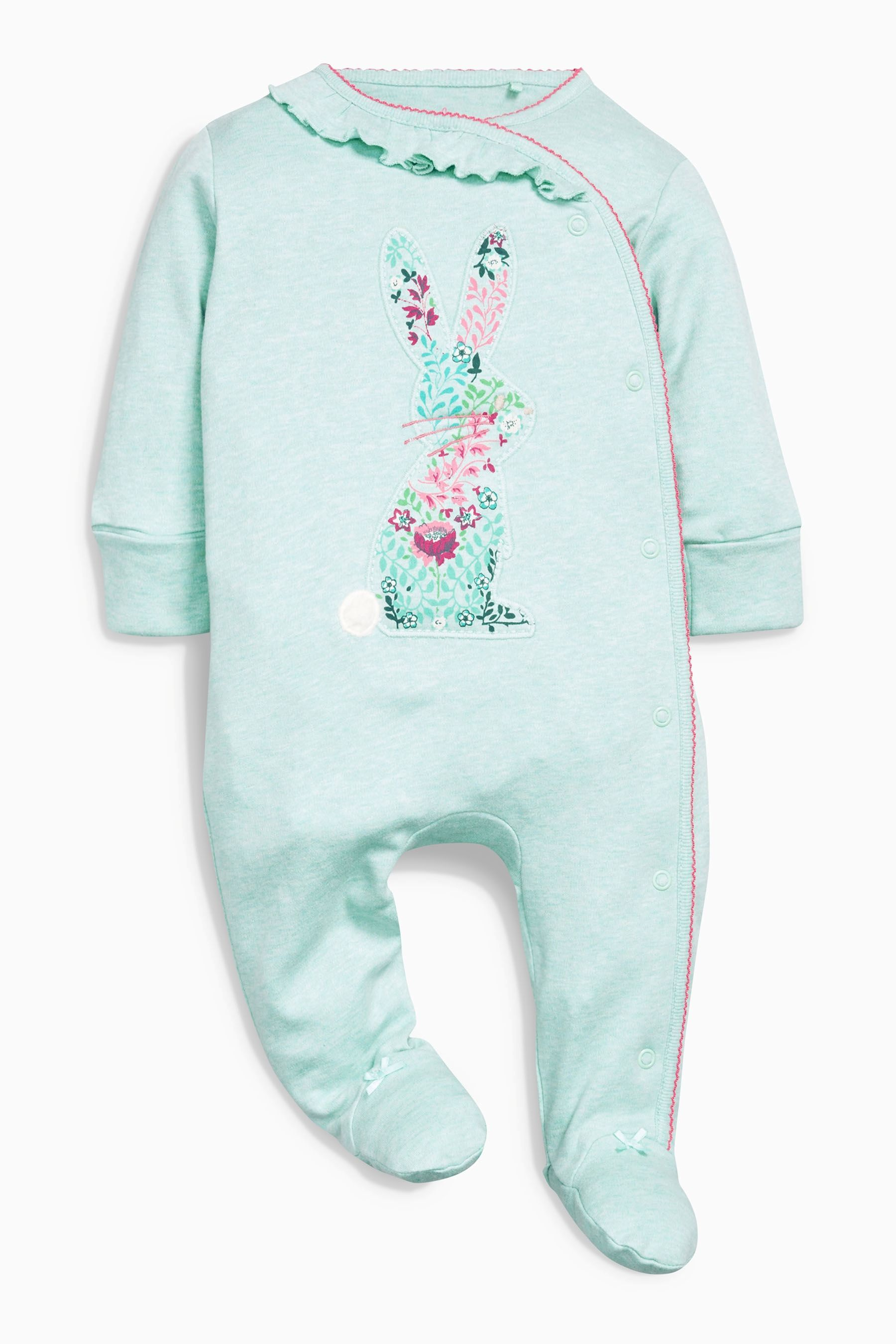 Buy Teal Bunny Sleepsuits Three Pack 0mths 2yrs from the Next UK