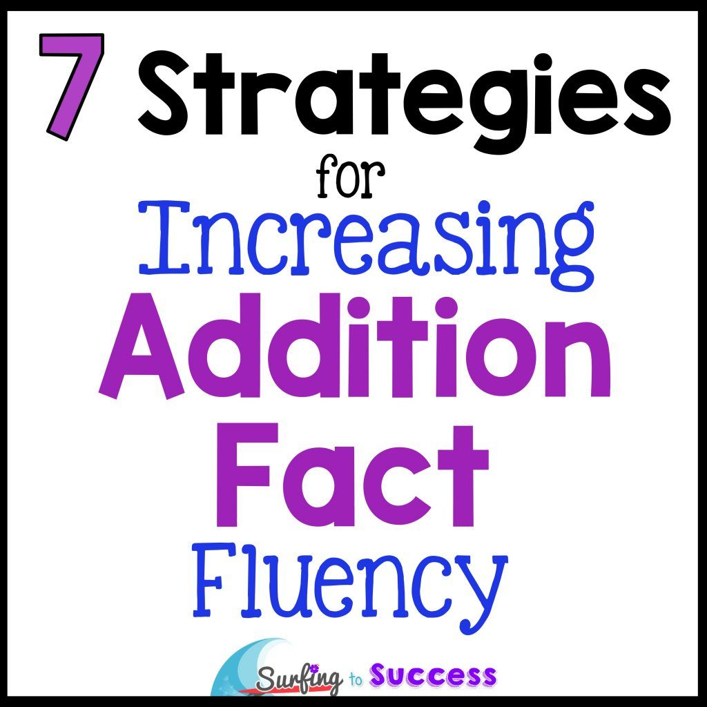 Addition Facts Strategies For Increasing Fluency