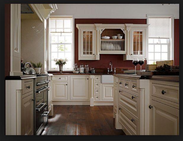 Kitchen Inspiration | Red kitchen walls, Red kitchen ...