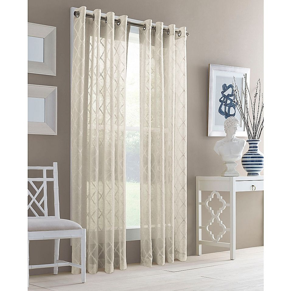 J Queen New York Adorn Grommet Top Sheer Window Curtain Panel Bed Bath Beyond In 2021 Panel Curtains Home Curtains Gold Home Decor