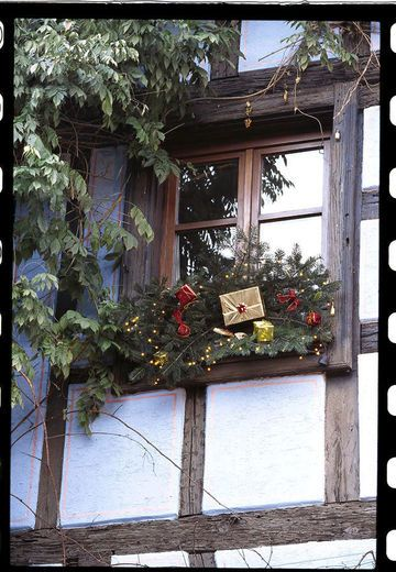 Idee decoration fenetre exterieur noel