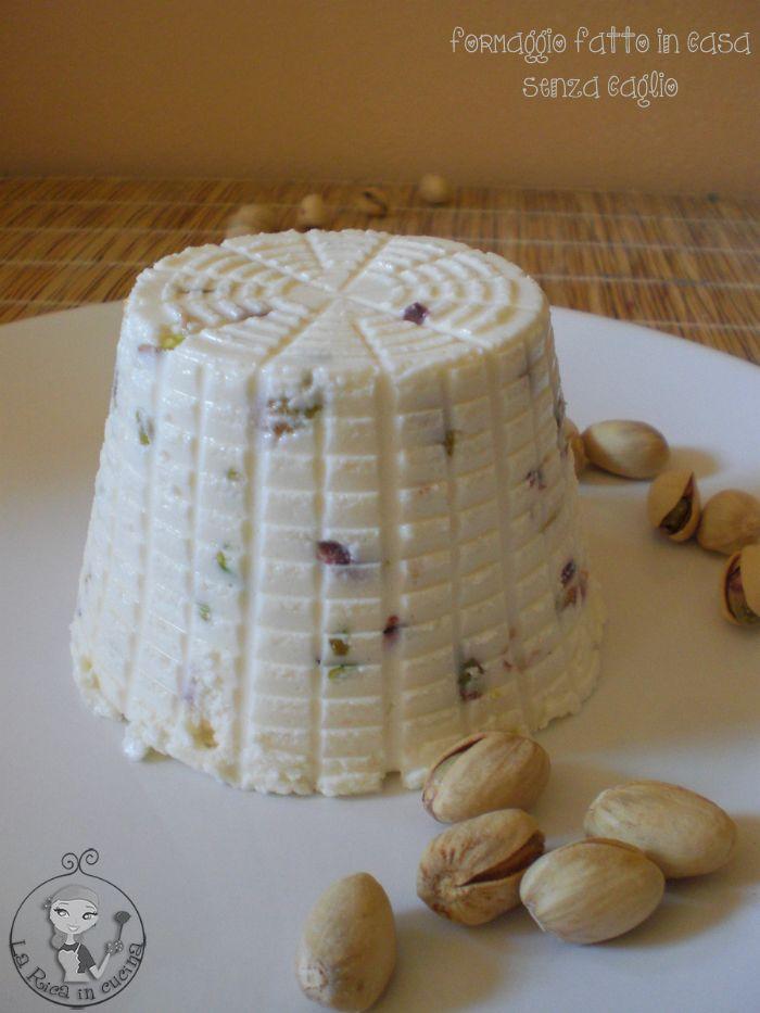Ben noto Formaggio fatto in casa senza caglio | Ricotta, Cheese and Food UZ77