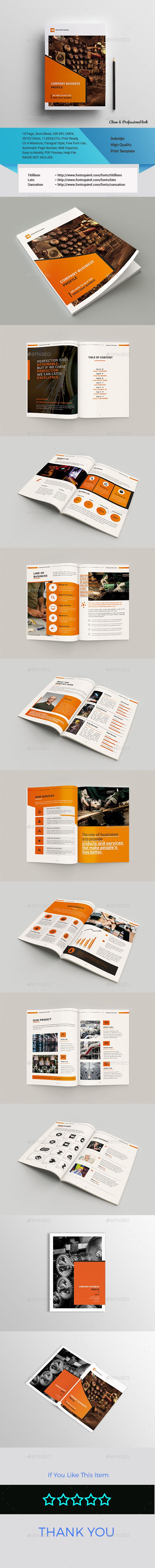 Company Business Profile Business Profile Brochure Template