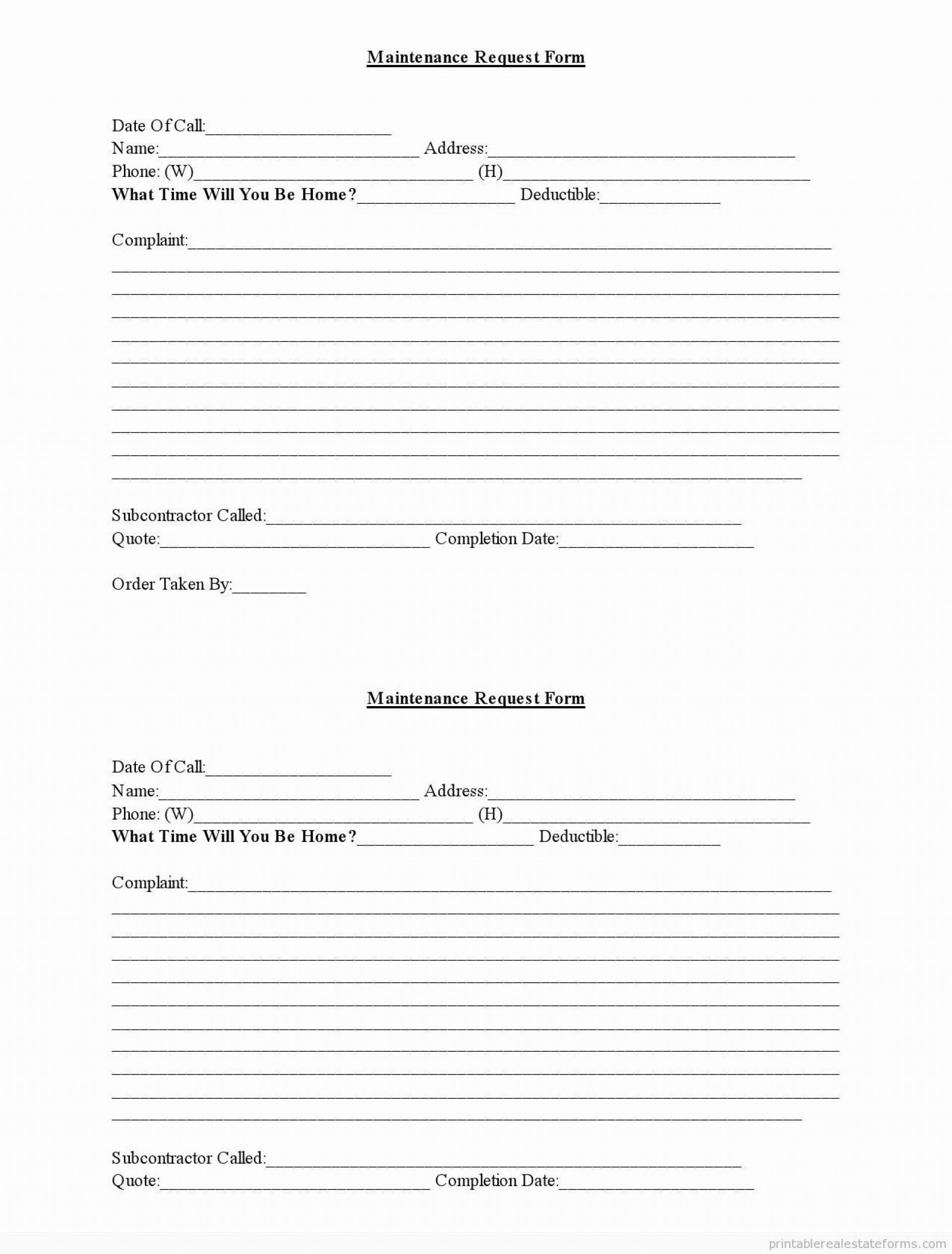 Tenant Maintenance Request Form Template Best Of 8 Apartment Maintenance Request Form Template Eerzr Templates Essay About Life Writing Templates