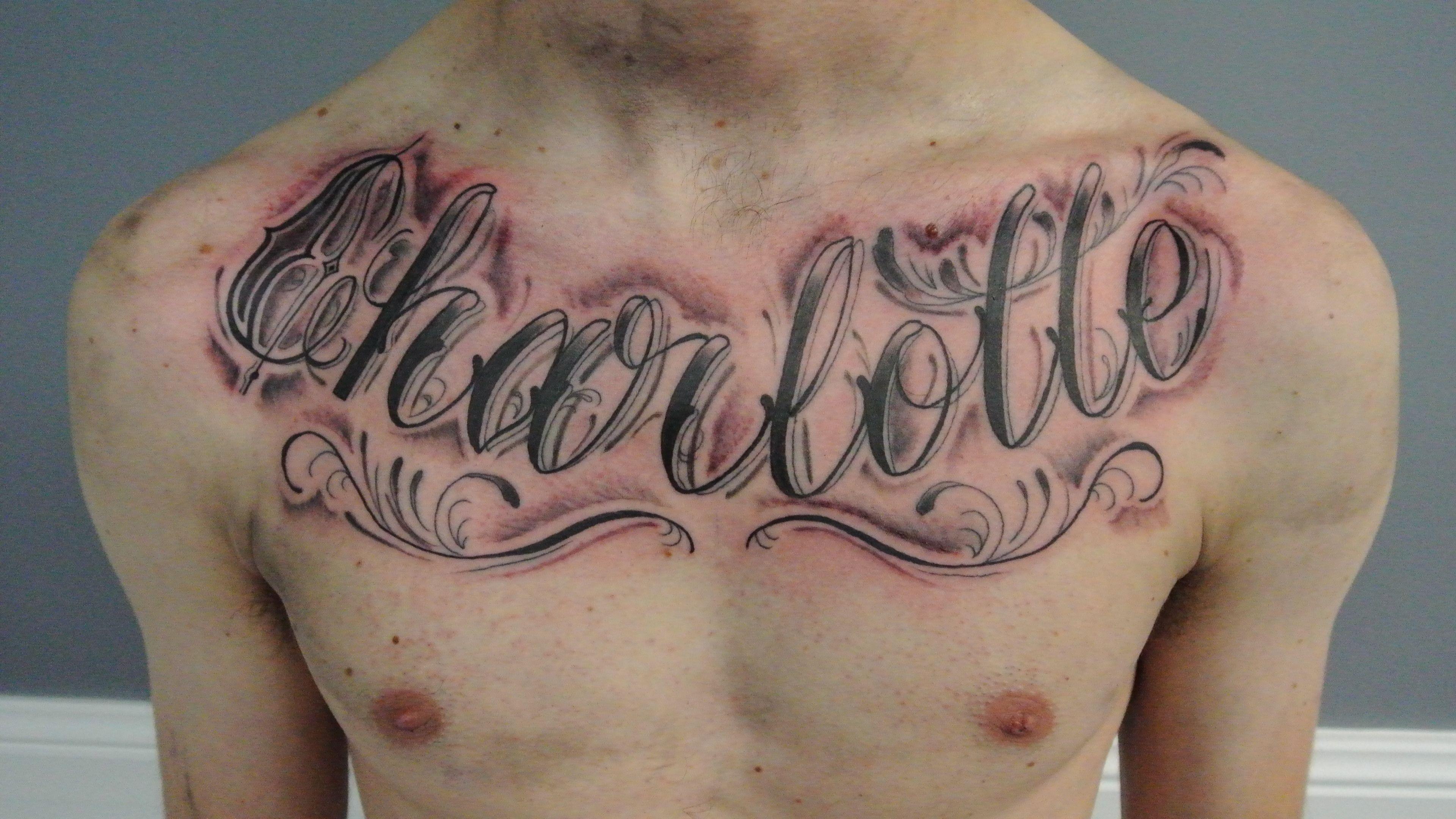 Tattoo By Lou Shaw Four Aces Tattoo Aldinga Beach South Australia 8556 5467 Custom Drawn Script Done In Black And Name Tattoo Tattoos For Guys Ace Tattoo
