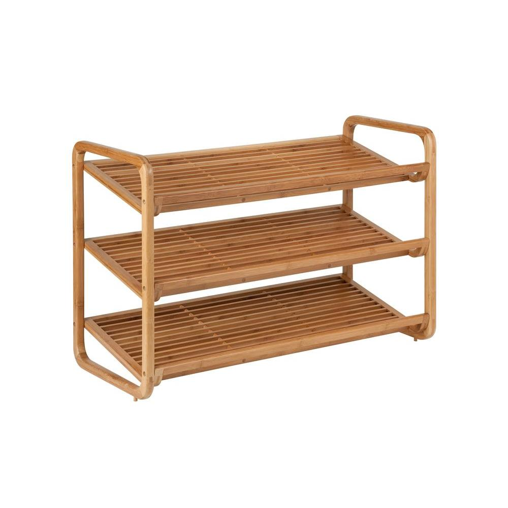 Honey Can Do 3 Tier Bamboo Shoe Rack Organizer Sho 01599 The Home Depot Bamboo Shoe Rack Shoe Rack Organization Shoe Shelves