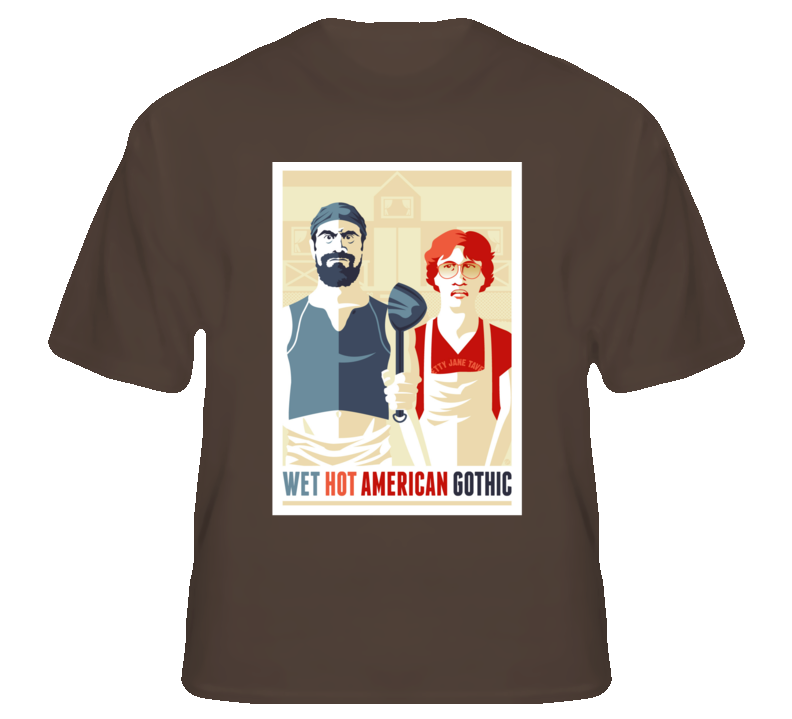 Wet Hot American Summer American Gothic Funny T Shirt RP by http ...