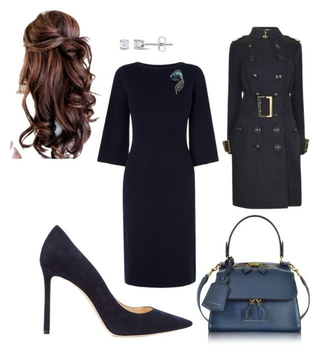 """Work"" by cgraham1 on Polyvore featuring L.K.Bennett, Jimmy Choo, Miadora, Burberry and Victoria Beckham"