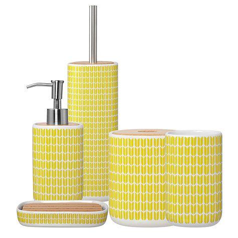 John Lewis Partners Tulip Bathroom Accessories Yellow Bathroom