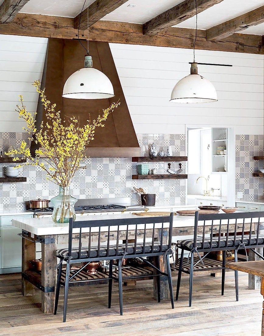 Modern Rustic Farmhouse With A Twist Cococozy Modern Farmhouse Kitchens Eclectic Farmhouse Farmhouse Kitchen Backsplash