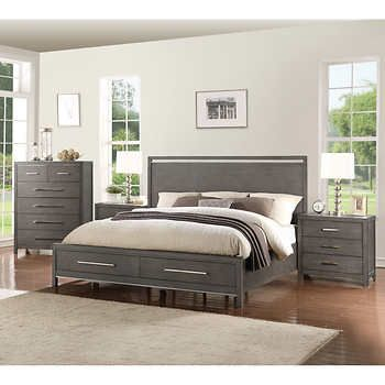 Kris 48piece Queen Storage Bedroom Set Home Sweet Home Pinterest Unique Storage In Bedrooms Set