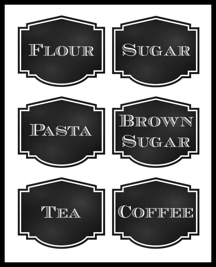 free printable chalkboard style pantry labels blank template