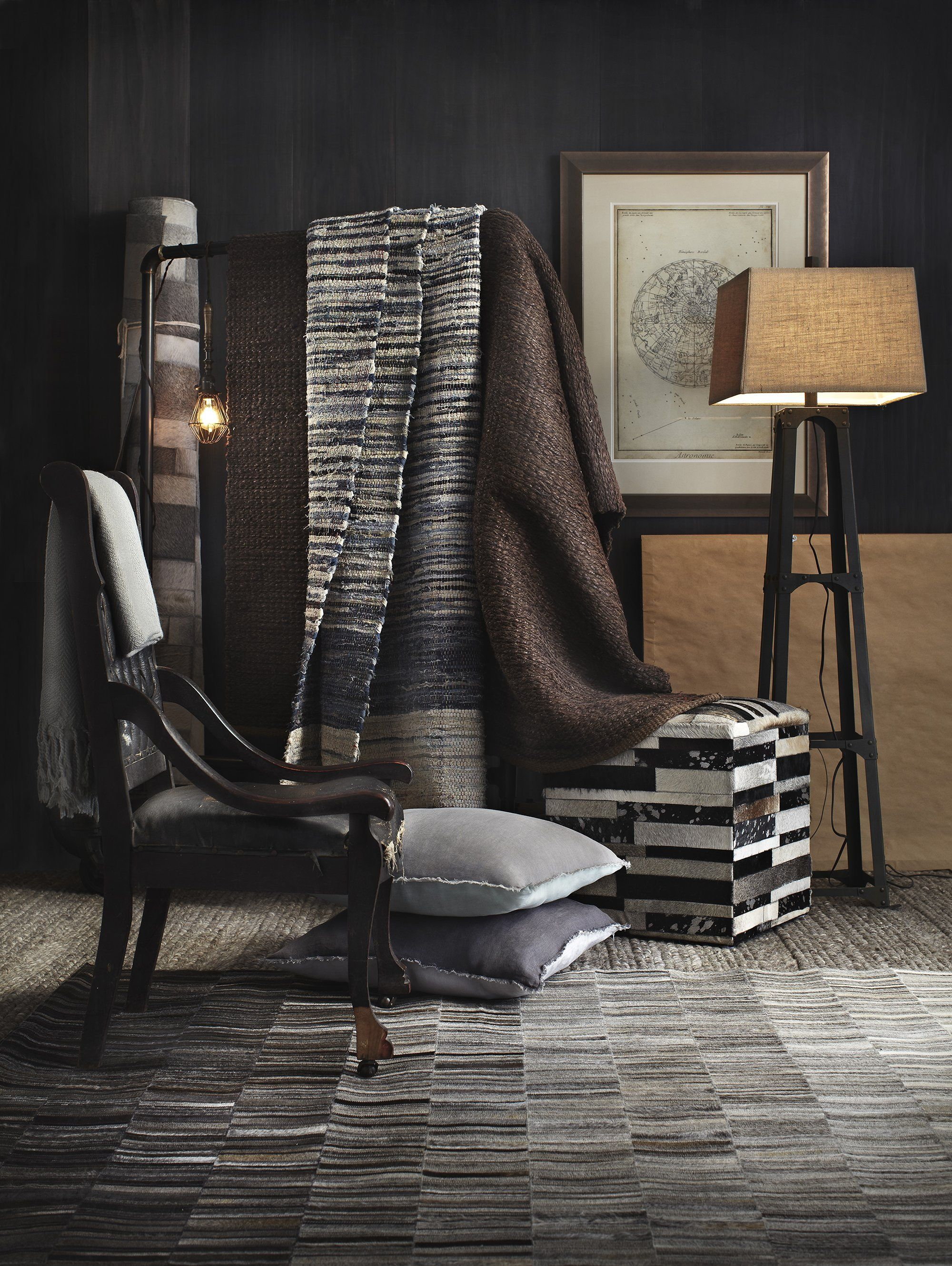 separation shoes 509a7 dc626 Surya Outback OUT1010 Grey Neutral Hides and Leather Area Rug
