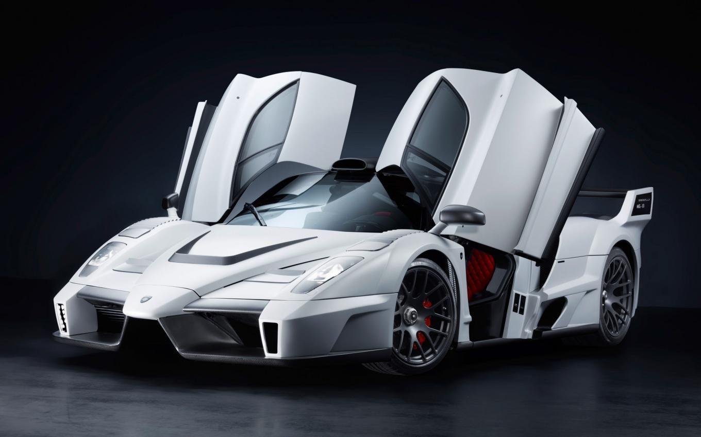 White Ferrari Enzo Open Door Up