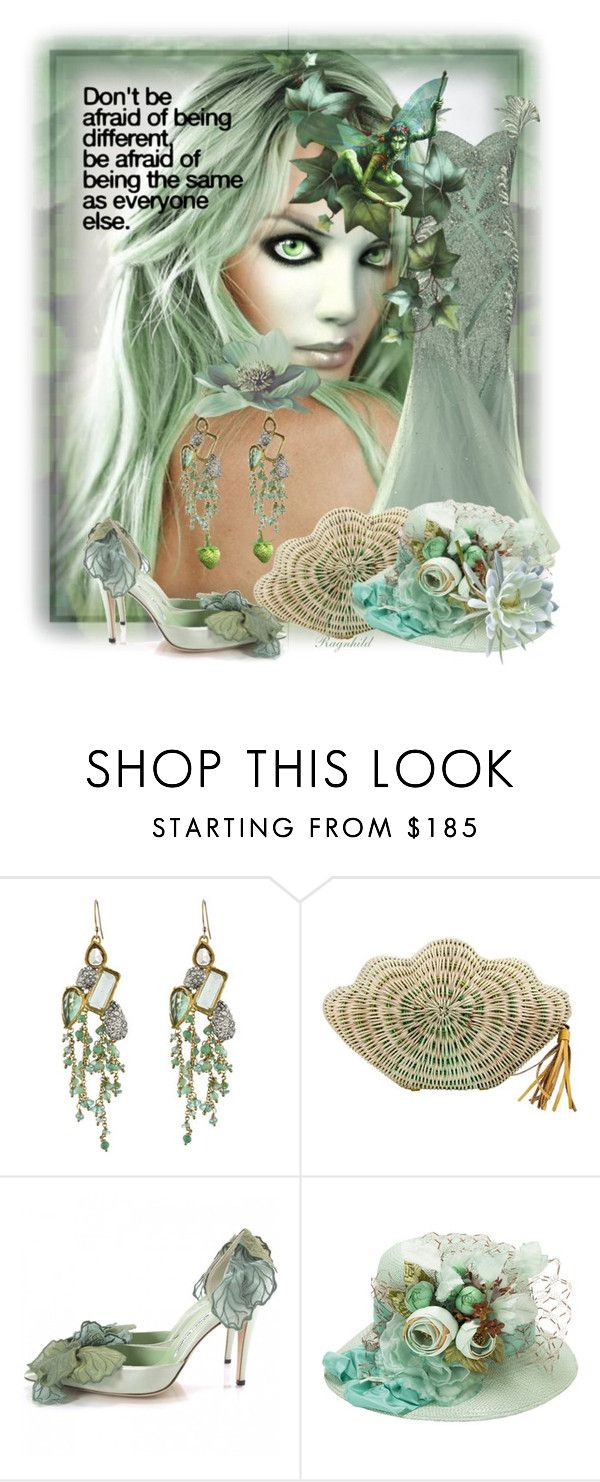 """""""My own World"""" by ragnh-mjos ❤ liked on Polyvore featuring Poesia, Tony Ward, Alexis Bittar, F, Kayu, Manolo Blahnik, CO, fashionset and polyvoreeditorial"""