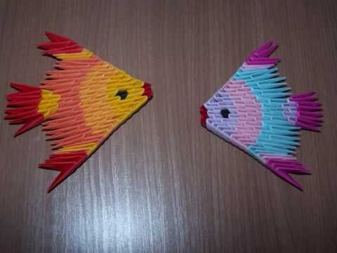 origami poisson 3d facile