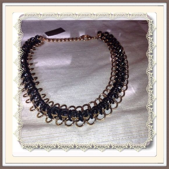 NECKLACE by NATASHA Goldtone and gray stones make up this lovely piece. It is 18 inches with 3 inch extender. This will be hard for me to sell! Comes with gift box in black. NATASHA Jewelry Necklaces