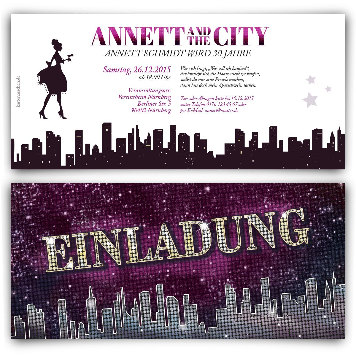 superior party einladung/einladungen party #10: Einladungskarten - Ladies and the City #einladung #einladungskarten #party  #geburtstag #girls