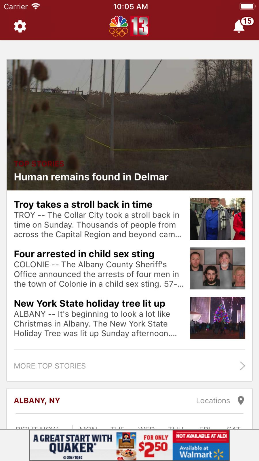 Wnyt Newschannel 13 Weather News Apps Ios With Images News