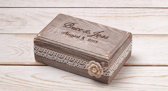 wedding ring box ring bearer box ring box ring holder rustic wedding ehering box. Black Bedroom Furniture Sets. Home Design Ideas