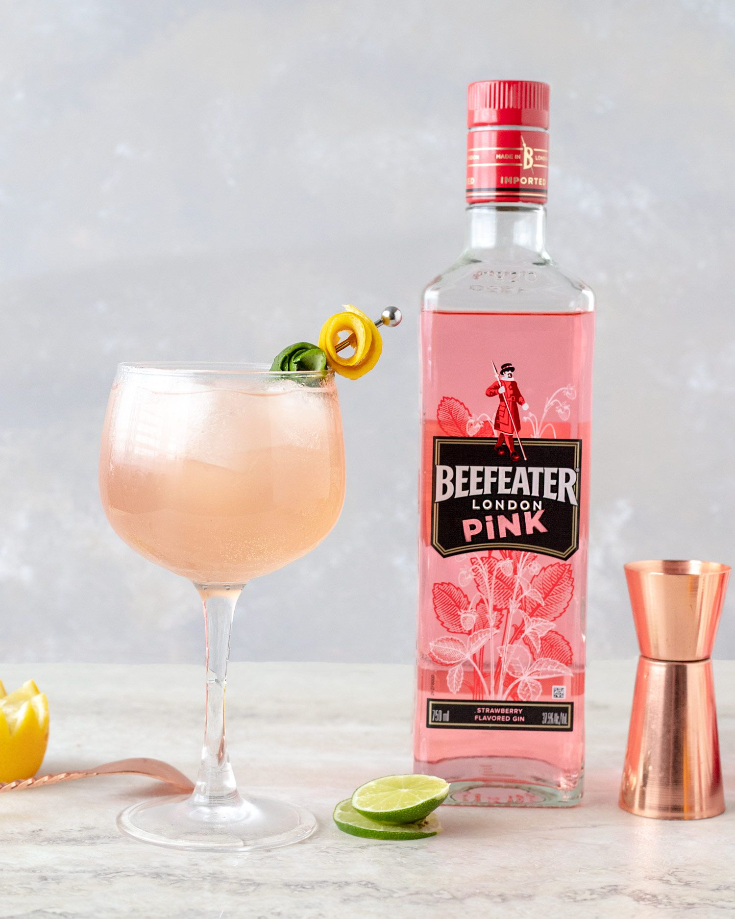 Pink Rosé Cocktail Recipe Pink Gin Cocktails Rose Cocktail Flavoured Gin