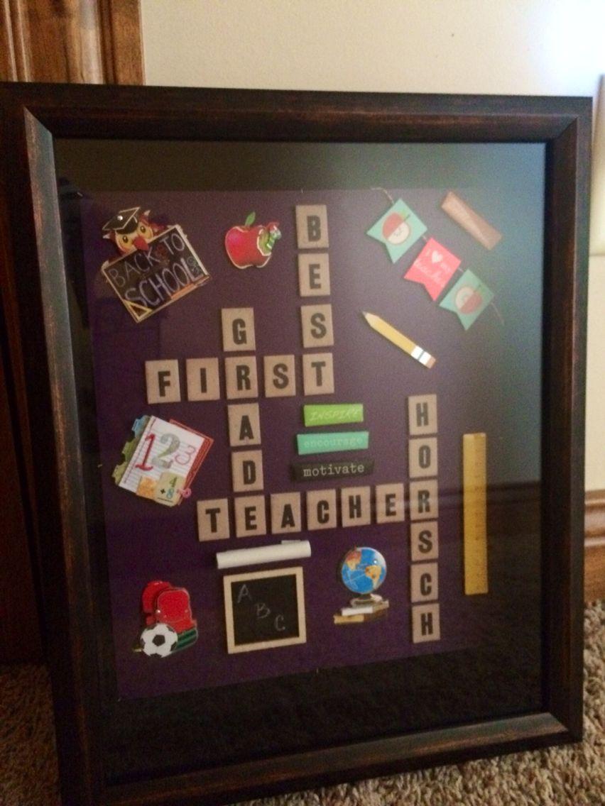 Teacher shadow box   Silhouette and Cricut Creations   Pinterest ...