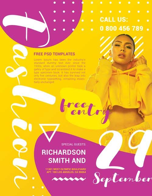 check out the fashion party event free flyer template only