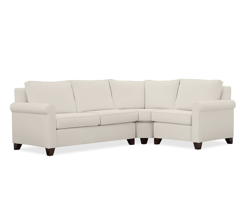 cameron upholstered left arm 3 piece wedge sectional sectional rh pinterest com