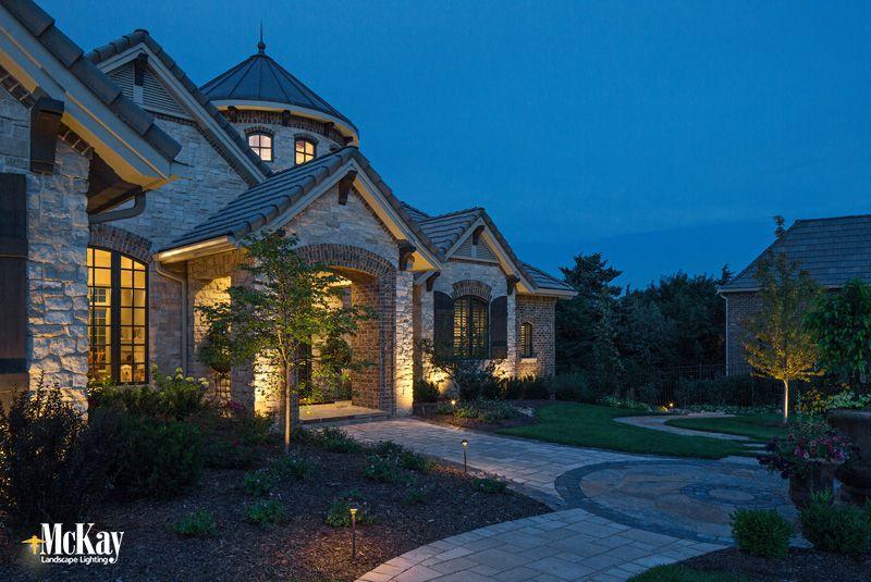 Project Spotlight Contemporary Tudor Home Outdoor Lighting Landscape Lighting Design Residential Lighting Tudor House