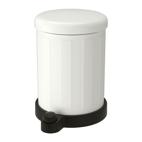 Toftan Trash Can White 1 Gallon Ikea Bathroom Trash Can Kitchen Trash Cans Bathroom Bin