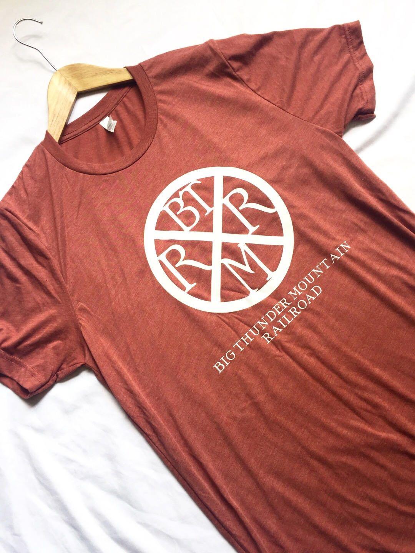 Big thunder mountain railroad brand mark shirt adult