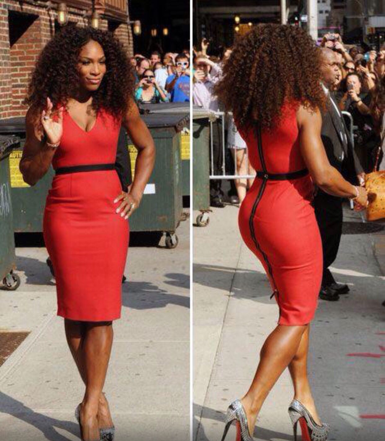 17913a916ea6 Serena Williams rocking her red dress!