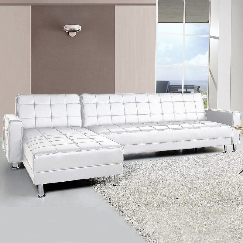 Corner Sofa Bed Lounge Couch Modular Furniture Home Pu Faux