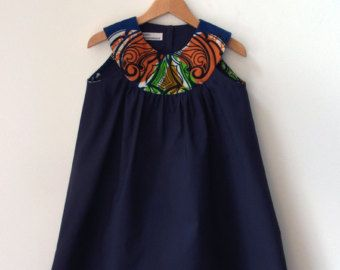 DRESS BO AFRICA Sleeveless Girl's Dress in African Wax by BENDITZ