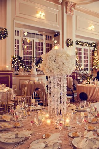 Winter Whites At The Cescaphe Ballroom Old Hollywood Wedding