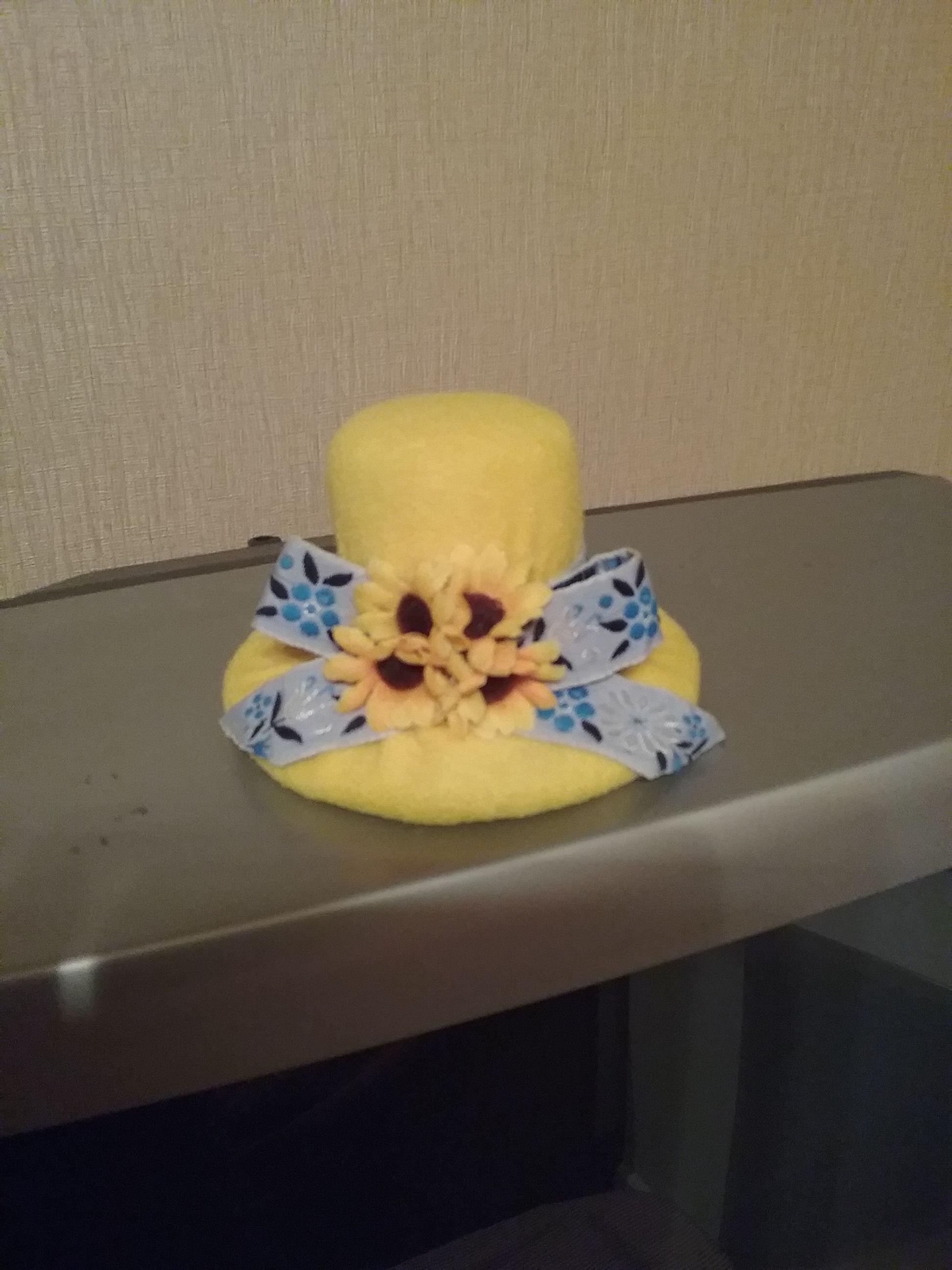 Игольница шляпка с подсолнухами из флиса | Игольница и ...