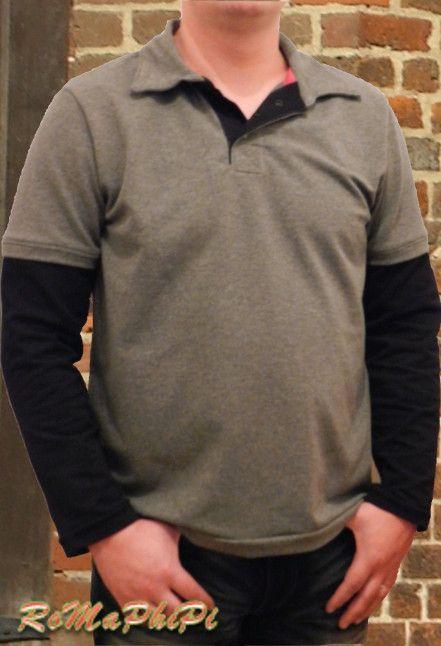 …durfte ich nähen. :) Und es ist ein wirklich tolles Shirt geworden, dass hier gern getragen wird. In einem sehr entspannten Probenähen für den neuen Schnitt Monsieur Polo von Nadine (O…